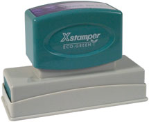 Xstamper® Pre Inked Custom Rubber Stamps at Knockout Prices from RubberStampChamp.com. Xstamper Industrial, Daters, Pocket Stamps, VersaDaters. Business Rubber Stamps. Secure.