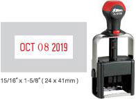 Customize free in your choice of 11 ink colors.  Ships in 1-2 business days and free shipping over $10!  Top quality Shiny H-6100 date stamp.