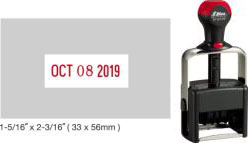 Customize free in your choice of 11 ink colors.  Ships in 1-2 business days and free shipping over $10!  Top quality Shiny H-6106 date stamp.