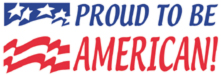 N20-911 - Proud to be an American Xstamper® Stock Stamp